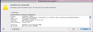 SoundDiver Crash Report