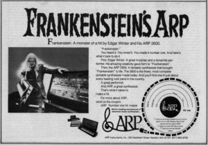 A magazine ad for the ARP 2600