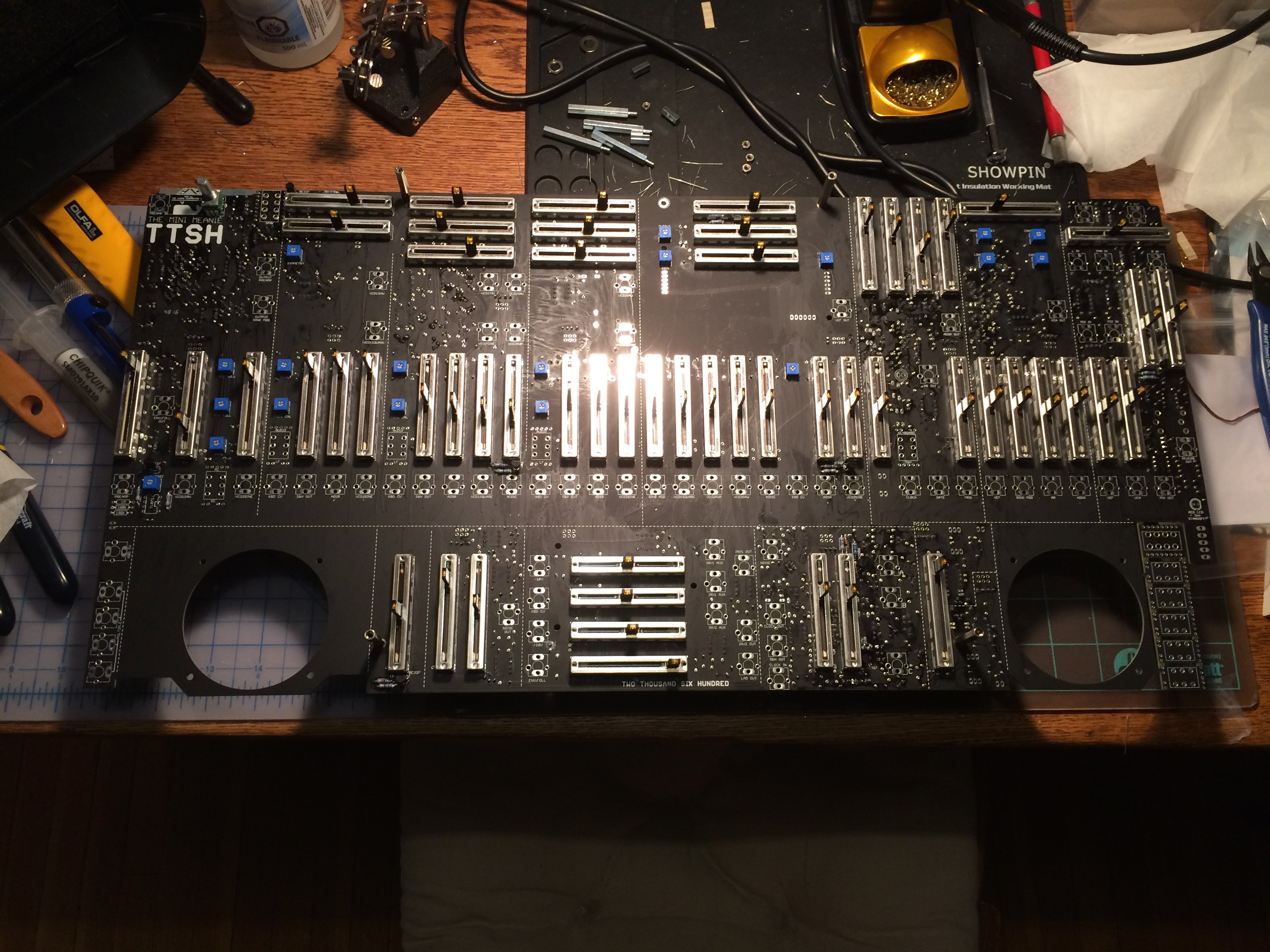 TTSH mainboard with sliders