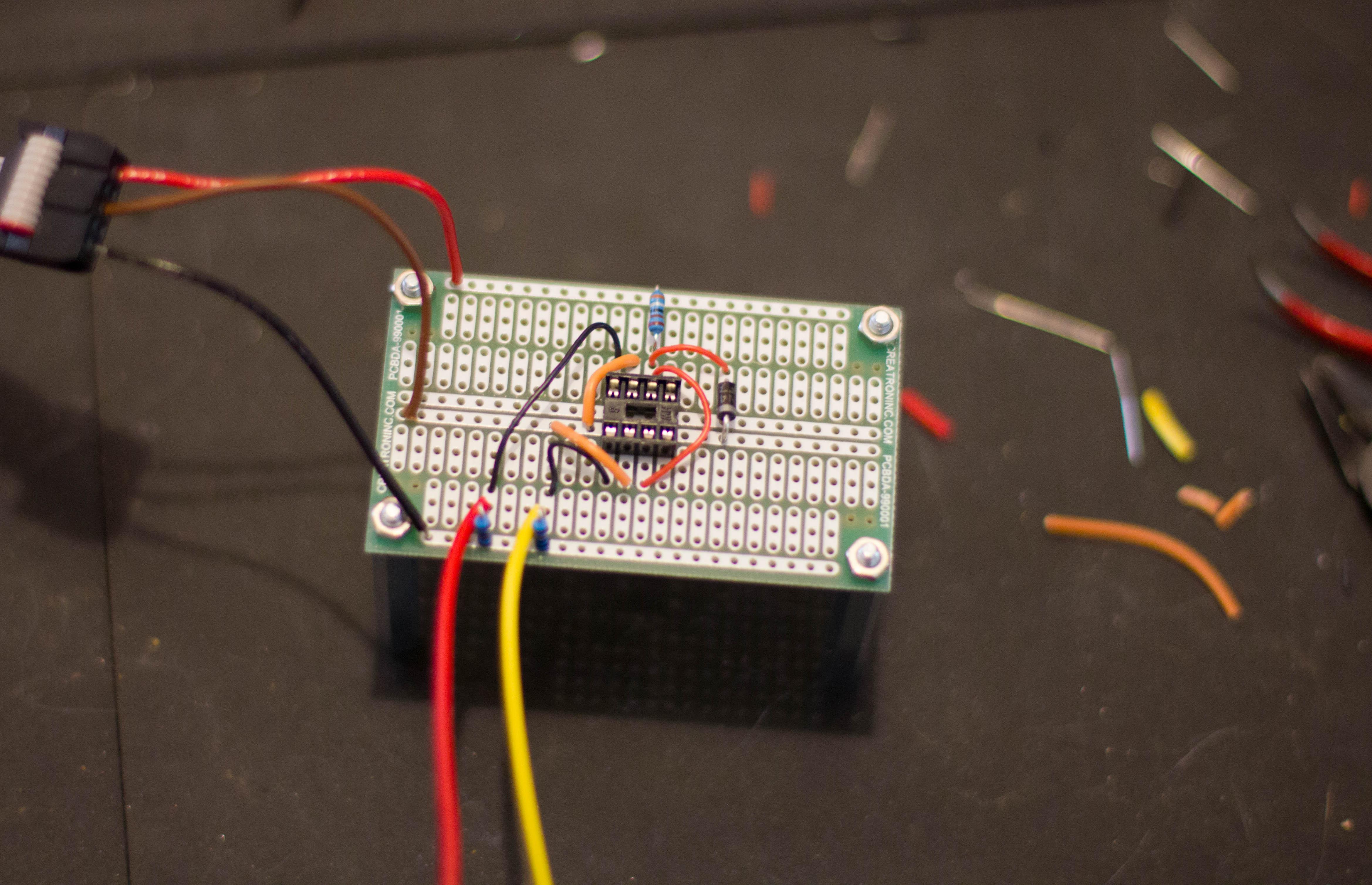 Ian Fritz Method on protoboard