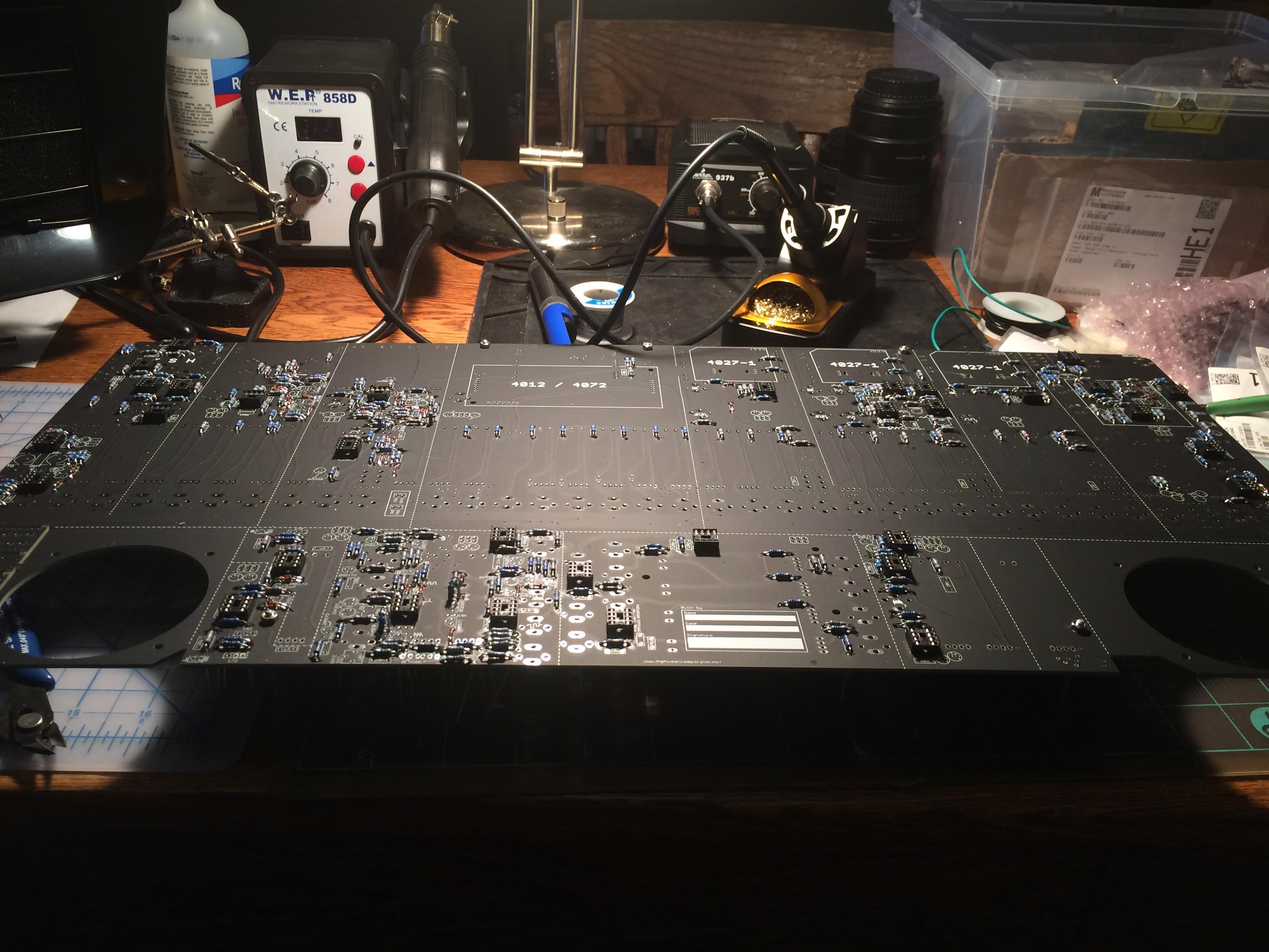 TTSH mainboard partially stuffed
